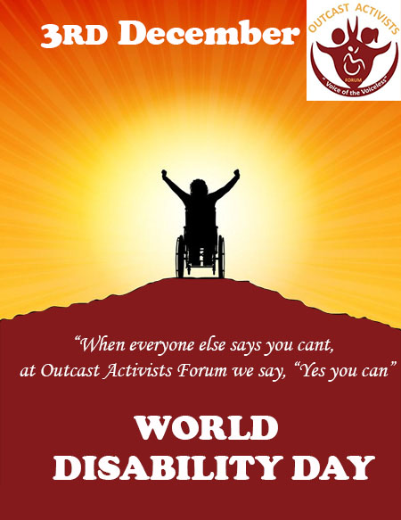 OAF Statement On The International Day Of Persons With Disabilities | 3rd December 2020