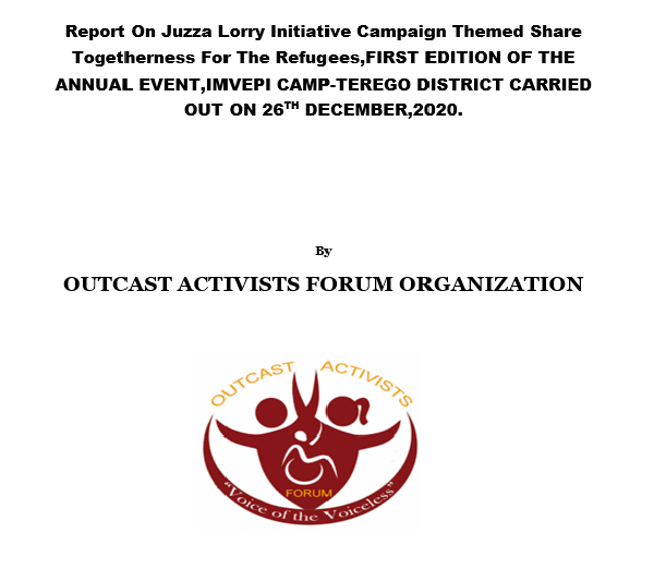 Report On Juzza Lorry Initiative Campaign Share Togetherness For The Refugees